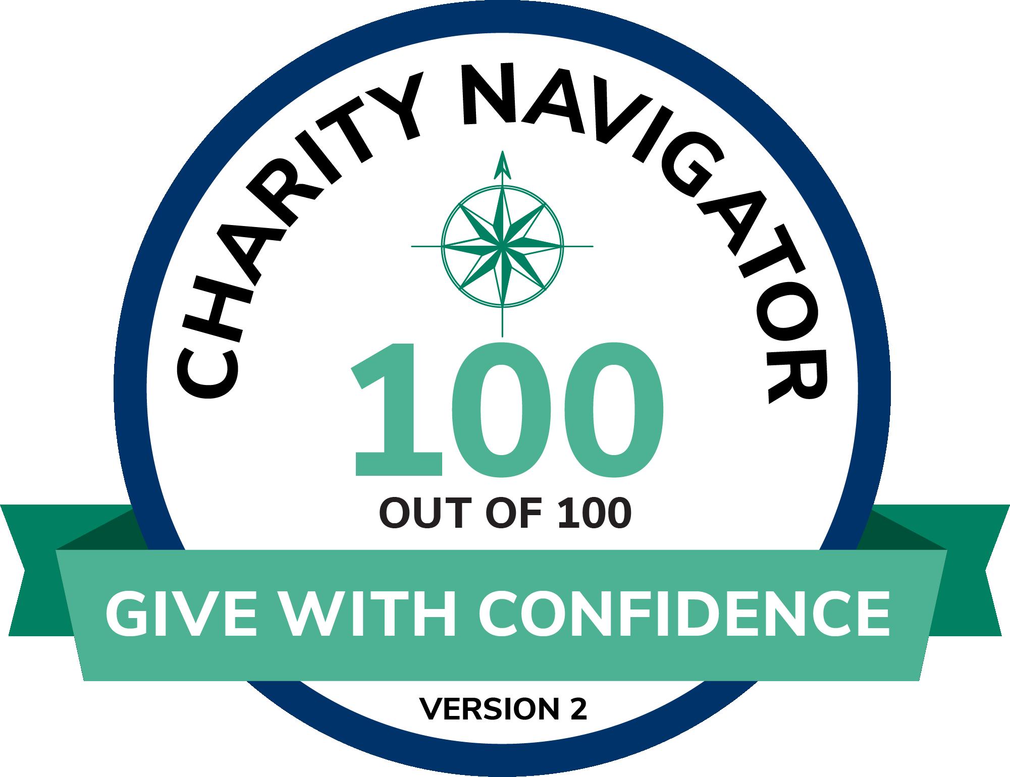Charity Navigator 100 Rating Seal
