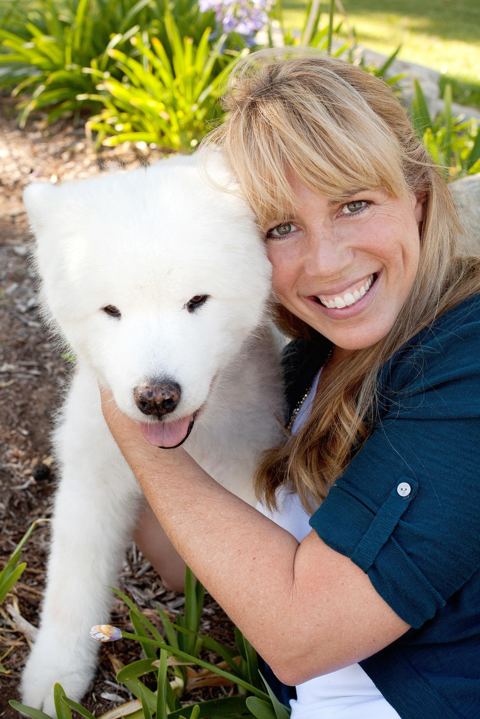 Dr. Gardner and white dog