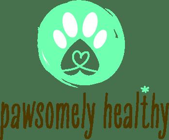 green paw print logo
