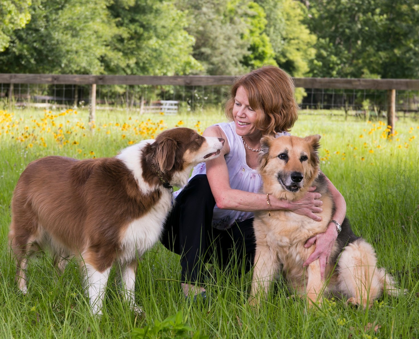 Dr. Sheilah Robertson and dogs