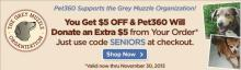 Coupon for $5 off at Pet360
